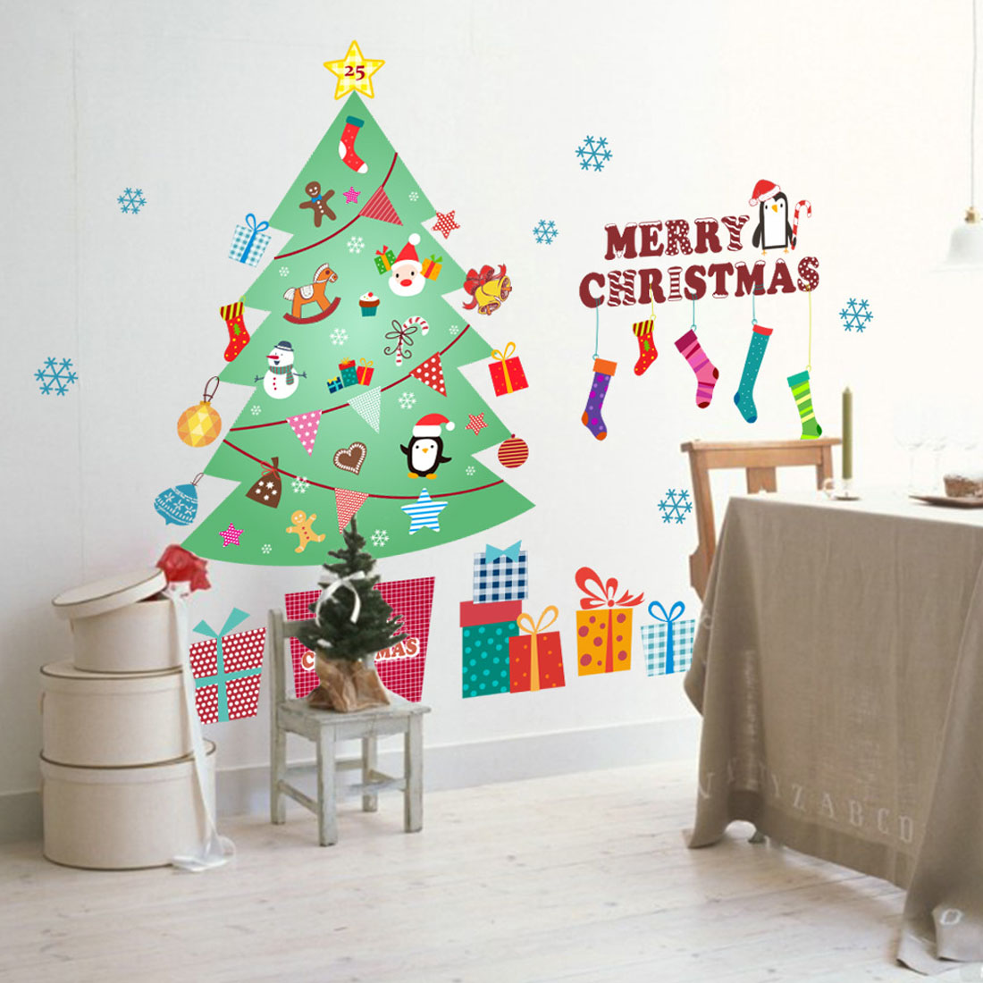 Xmas tree wall stickers 2018 happy new year merry christmas wall xmas tree wall stickers 2018 happy new year merry christmas wall sticker xmas home shop windows decals decor amipublicfo Gallery
