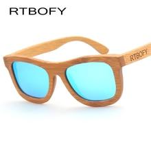 RTBOFY Wood Sunglasses Women 2017 Brand Designer Au Retro Vintage Bamboo Sun Glasses UV400 Polarized Sunglasses For Women