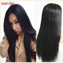 New Soft Silky Straight Wig Human Hair Silk Top Lace Front Wig Brazilian Virgin Hair Silk Top Lace Wig Straight 4X4 Silk Base