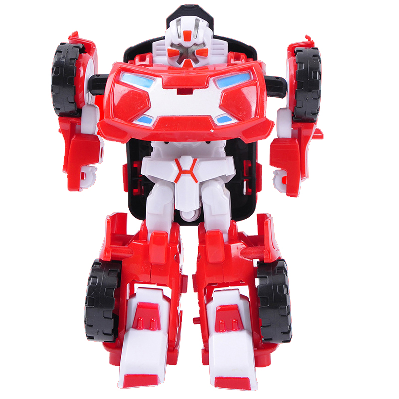 Mini Robot Deformation Toys Car model Action Figure Gifts For Children Classic Toy Robocar Transformation brinquedos купить