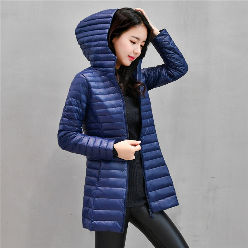 58427832a 90% White Light Duck Down Coat Jackets Womens Winter Coat Parkas Female  Ultra Light Down Jacket Basic Coats Hooded Long Outwear