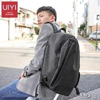 UIYI Brand 2019 New External USB Charging Double Backapck Waterproof Nylon Fashion Men's Travel Shoulder Back Bag 15' Laptop Bag