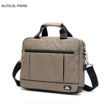 USB Charging Briefcase Simple Laptop Handbag Casual Fashion Mens Business Protfolio Hombre aktentasche Oxford AUTEUIL PARIS