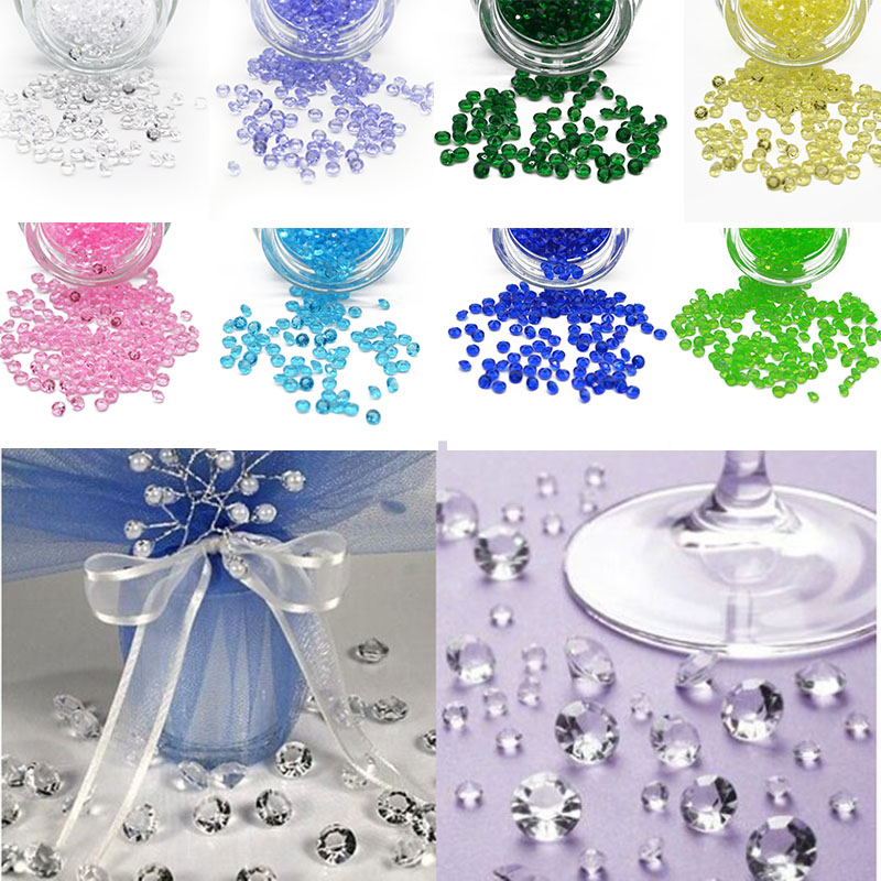 Banners, Streamers & Confetti 1000pcs/lot 4.5mm Acrylic Crystals Beads Confetti Wedding Party Table Scatters Decoration Centerpiece Event Party Supplies Attractive Appearance