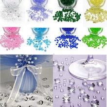1000 pçs/lote 4.5mm acrílico cristais grânulos confetes festa de casamento mesa scatters decoração peça central fontes festa evento