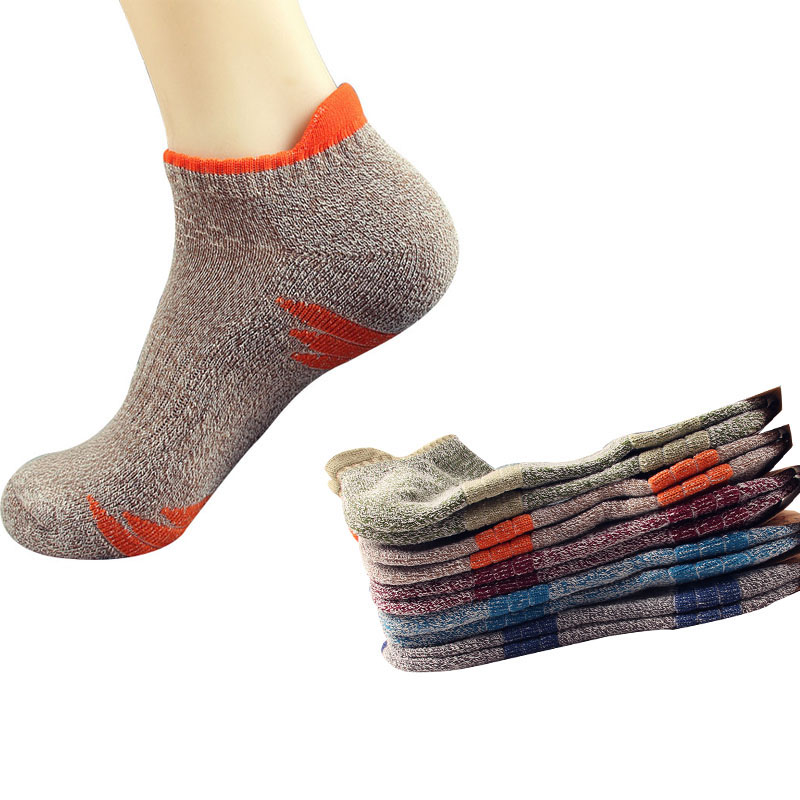 3 Pair Men Socks Comfortable Mountaineering Sock Towel At The End Thick Men Cotton Boat Breathable Shaping Fashion Durable Sock
