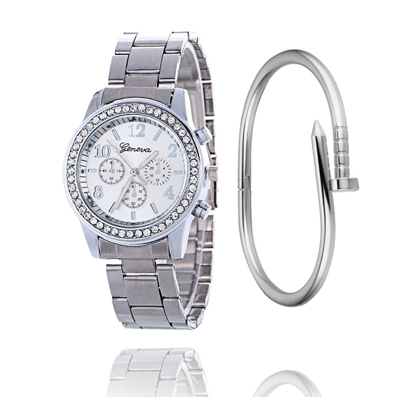 New Arrival Luxury Geneva Stainless Steel Strap Casual Men's Watches Women Dress Quartz Wristwatches Relogio Feminino 2019 Clock