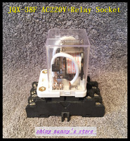 1 Set JQX 38F AC 220V 40A 11 Pin 3PDT Coil Power Relay With Socket Brand