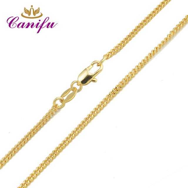 Canifu New arrival Genuine Gold Color water-wavenecklace hot sell  thin Chains for pendants great gifts for women 34650
