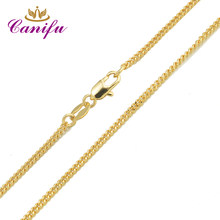Canifu New arrival Genuine Gold Color water-wavenecklace hot sell thin Chains for pendants great gifts for women 34650(China)