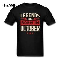 Men T Shirt High Quality White Short Sleeve Custom T Shirts Man Legends Are Born In
