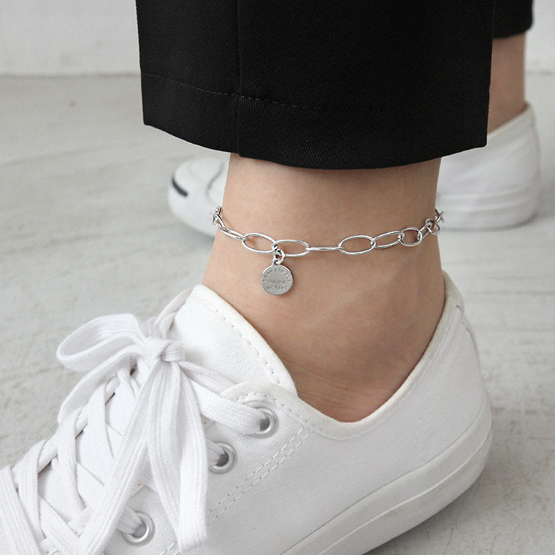 Silvology 925 Sterling Silver Chain Letter Anklets Love Always Being Atlast 2019 Summer Anklets For Women Fashionable Jewelry