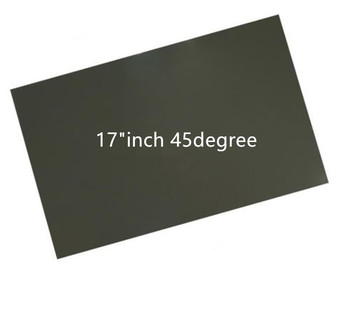 "2pcs 17""inch 45degree LCD LED polarizer polarizing film sheet for PC monitor screen"