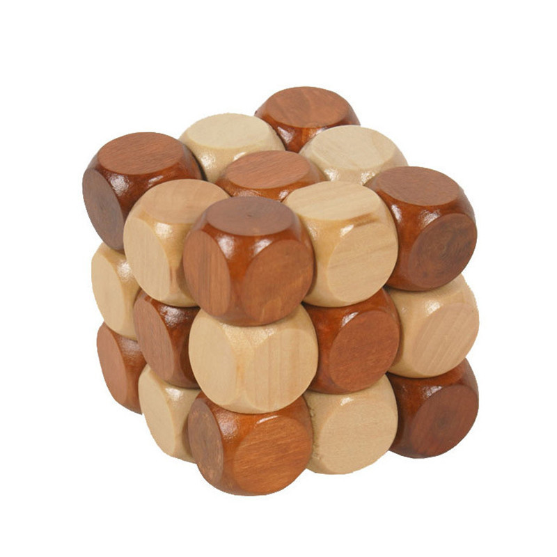 Creative 3D Puzzle Novelty Toys 1Pc Magic Cube Educational Brain Teaser IQ Mind Game For Children Adult Wooden Snake Shape
