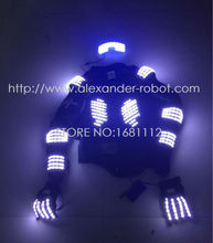 New arrived RGB color LED show LED armor LED Suits Robot Costume LED Luminous Clothing For Night Clubs Party KTV Party Supplies