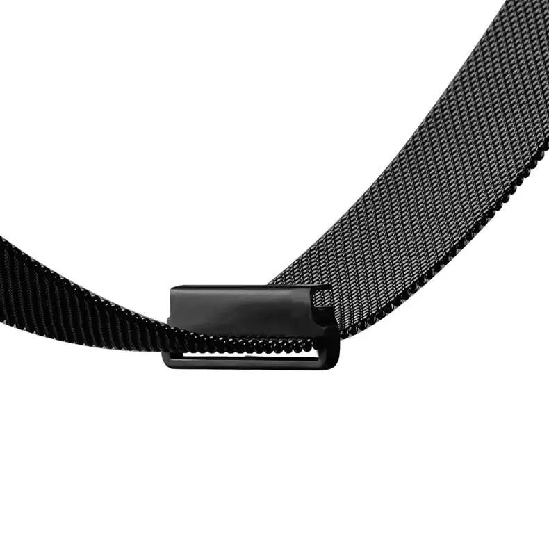 Milanese Magnetic Loop Band for Fitbit Blaze Stainless Steel 23mm Metal Black Silver Wrist Strap Belt Replacement I88. стоимость