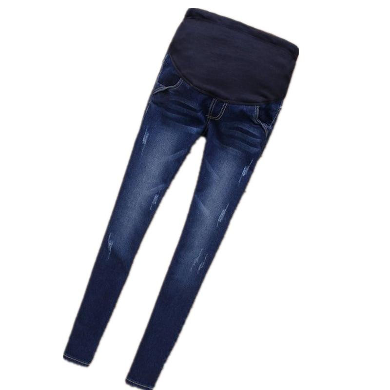 Elastic Waist 100% Cotton Maternity Jeans Pants For Pregnancy Clothes For Pregnant Women Legging Spring Autumn Winter 2017 B0183