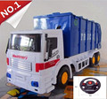 Remote control vehicle, 4-channel wireless remote control, steering wheel green garbage trucks,cars toys, free shipping