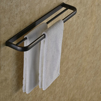 New Arrival Wall Mounted Oil Rubbed Broze Towel Rack Bathroom Towel Bar Accessories Top Quality