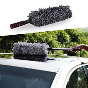 Image 2 - Chiffon de nettoyage en microfibre, 1 pièce, cire rétractable de haute qualité, pour lavage de voiture, brosse de nettoyage