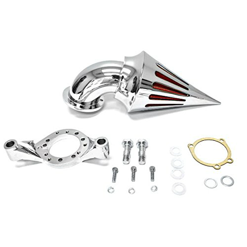 for Harley Davidson CV Carburetor Delphi V-Twin Chrome Billet Aluminum Cone Spike Air Cleaner Kit Intake Filter Motorcycle cnspeed air intake pipe kit for ford mustang 1989 1993 5 0l v8 cold air intake induction kits with 3 5 air filter yc100689