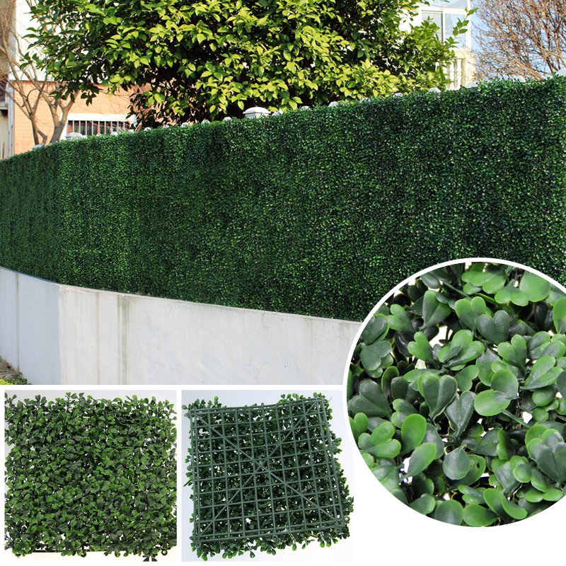 Uland Artificial Boxwood Hedges Panels 50x50cm Pc Plastic Ivy Buxus Privacy Fence Screening Mat