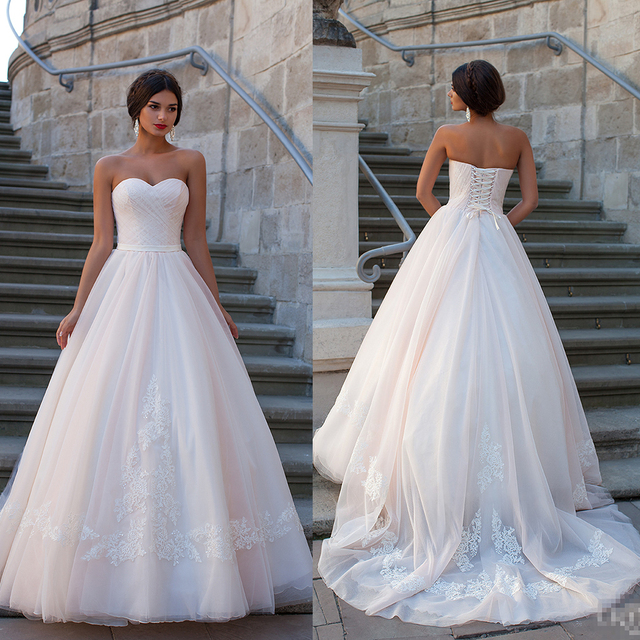 Marriage sweetheart Ball Gown Pink Wedding Dress 2015 Fashionable ...