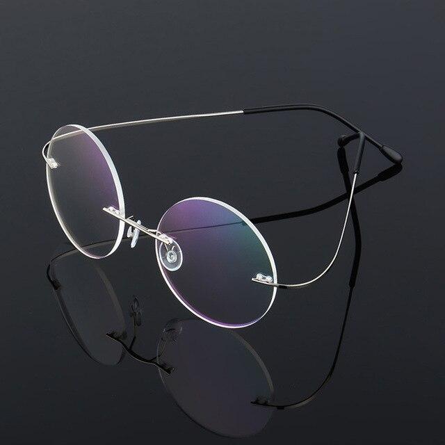 06cc51d4b0d ... Glasses Frame Men Women Eyewear. Special Offers Steve Jobs Star Style  Ultra-light Memory Titanium Wired Rimless Round Myopia Eyeglasses