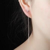 999 Sterling Silver Ear Line Female Tassel Earrings Earrings Or A Korean Style Fashion Chain Ear