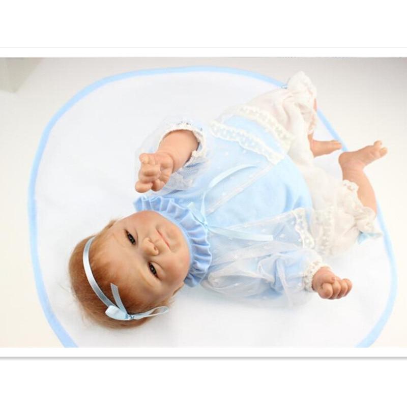 NPK Collection Reborn poupée Silicone doux poupées jouet 40 cm/16 pouces, réaliste poupée enfant cadeau d'anniversaire réaliste bébé nouveau Reborn jouet - 3