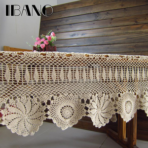 Image 2 - IBANO Cotton Tablecloth Handmade Vintage Flowers Design Crocheted Table cloth Lace Coasters Home Table Decoration Crafts