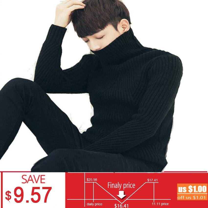 Neue Winter Pullover Für Männer Plus Größe Lange Ärmel Einfarbig Warme Bequeme Baumwolle Rollkragenpullover Mode für Männer Tops LB