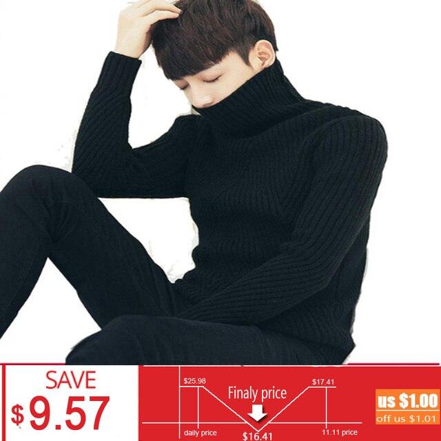witte zwarte coltrui trui mannen truien winter thicken cashmere mens