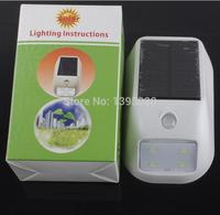 태양 벽 램프 바디 유도 4led 높은 밝기 야외 마당 울타리 램프 30 pcs 조명 수 있습니다.