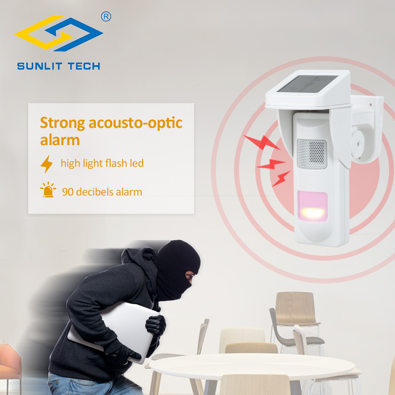 Wireless Outdoor PIR Sensor Siren Alertor Spot Alarm System Work Alone or Work for GSM Alarm System G19, G18, 8218G цена и фото