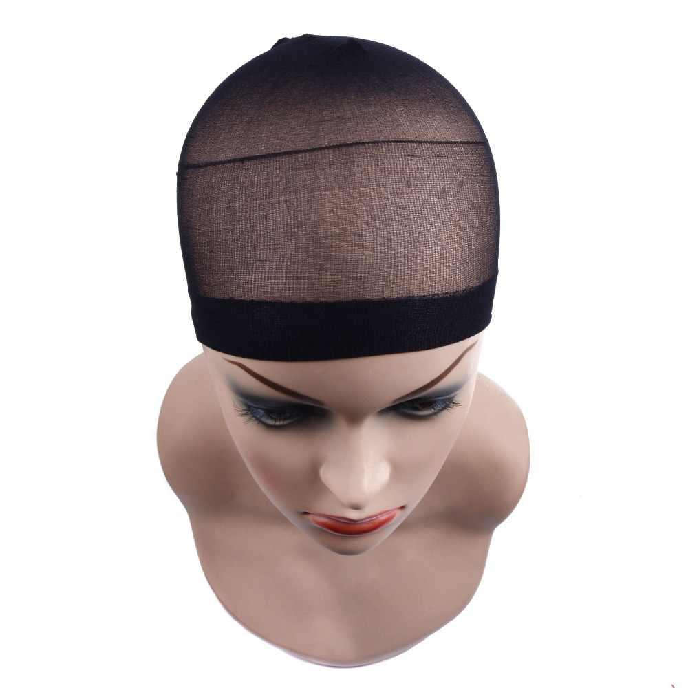 2 шт./упак. парик Кепка для волос сетка для плетения волос сетки для париков стрейч парик на сетке Кепка для изготовления париков свободный размер