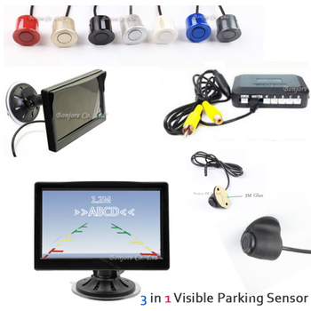 "Free shipping 5"" HD TFT Auto Car Monitor For CCD Waterproof Reversing Rear View Camera Car Video Visual Parking Sensor BIBI"