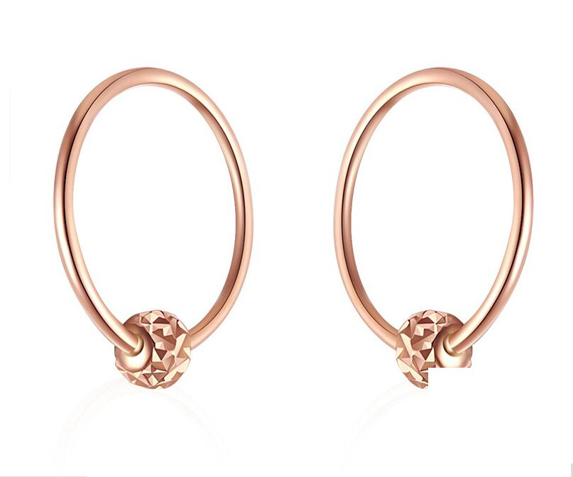 Boucles d'oreilles en or Rose AU750