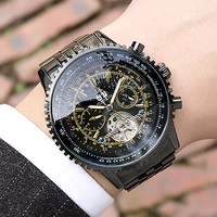 ORKINA Top Brand Luxury Men Watches Big Dial Automatic Self wind Mechanical Watches Men Relogios Masculino Tourbillon Watch
