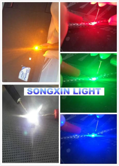 5000 pces = 1000 pces * 5 tipos 0603 leds smd ultra brilhantes, 0603 smd led, vermelho, verde, azul, branco, diodo emissor de luz amarelo 1.6*0.8*0.6mm