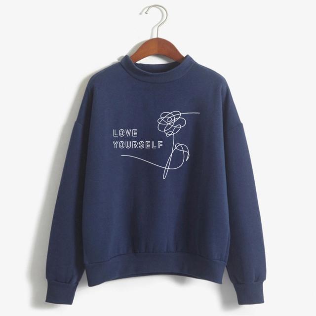 Bts Fake Love Harajuku Kpop Love Yourself Felpe Roupas Sweatshirt Bangtan Boys Hoodies Women Clothing Plus Size Oversize Hoodie