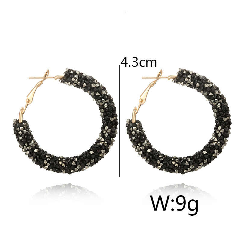 Pendientes grandes coreanos Vintage para mujer moda femenina oro cúbico zirconia gota colgante pendientes geométricos joyería 2019