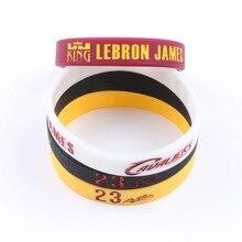 af93283f9fcc Hot Sale NBAStar Lebron James Silicone Bracelets Basketball Silicone  Wristband Sport Band Cool Fashion Item Popular
