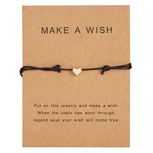 Браслет Wish Card, регулируемый, ручной, плетеный, женский, минималистичный, сердце, корона, круглая нить, Ehthic, браслет, Модные женские ювелирные изделия - Окраска металла: 21