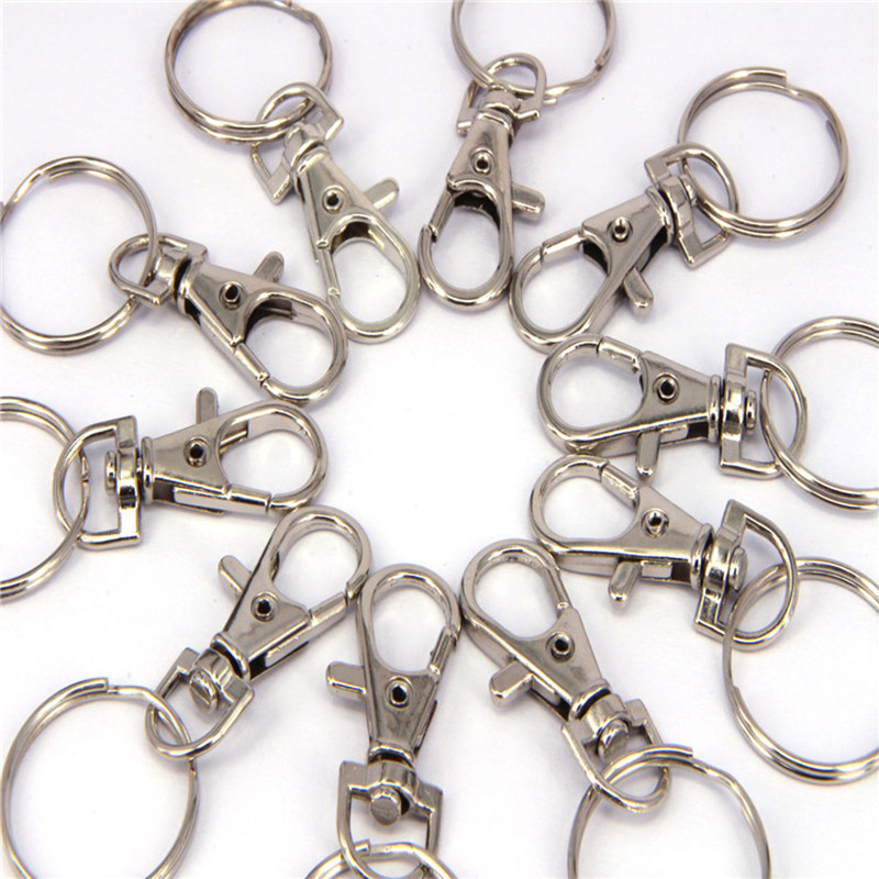 10X Lobster Clasp Swivel Trigger Clip Snap Hook Bags Car Keys Rings Keychain BH