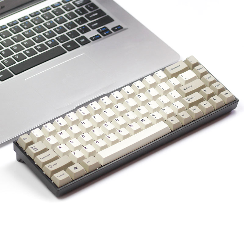 Tada68 Mechanical keyboard 65 layout with Zealios Tealios Gateron swtiches Enjoypbt Dye sub keycap Plastic or