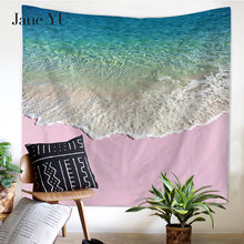 JaneYU New High Definition Original Beauty Beach Sea Wave Multifunctional Tapestry Hanging Wall tapestries for furniture
