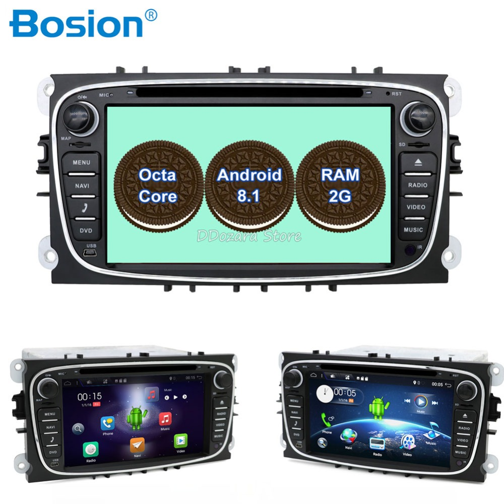 8 core кассетный магнитофон 2 din для ford focus Android 8,1 с радио тюнер RDS/FM gps Wifi BT руль Converse +