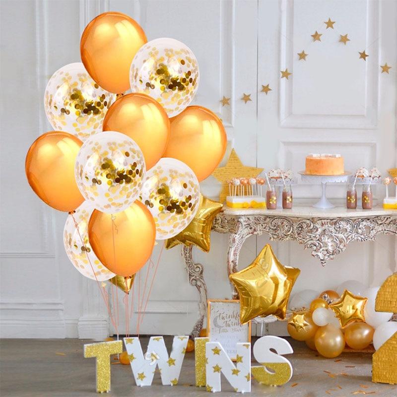 10 12-inch sequins set balloon hat party decoration gold sequins toy set toy children balloon cap стоимость