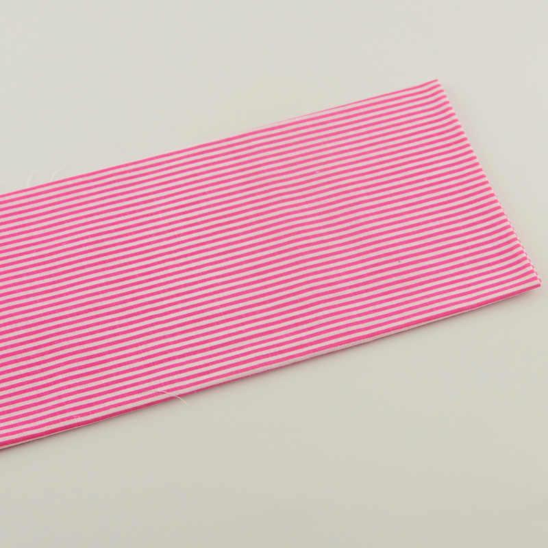 1 Buah 50 Cm X 50 Cm Mawar Merah dan Putih Strip Desain Rumah Tekstil Quilting Kain Tecido Kain Katun -Memotong Lemak Quarter